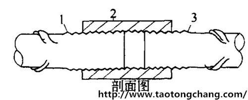 标准型钢筋套筒剖面图